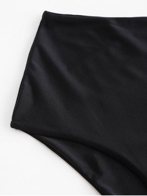 new ZAFUL Full Coverage Plain Bikini Bottom - BLACK M Mobile