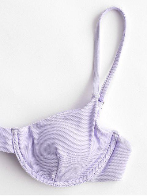 Bikini a Costine con Ferretto di ZAFUL - Blu Porpora Chiaro M Mobile