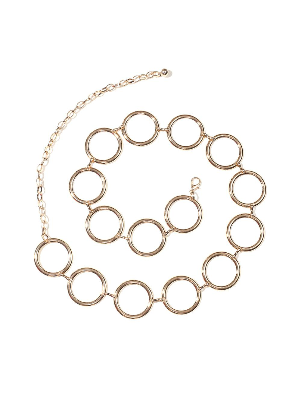 Metal Circle Hollow Waist Chain