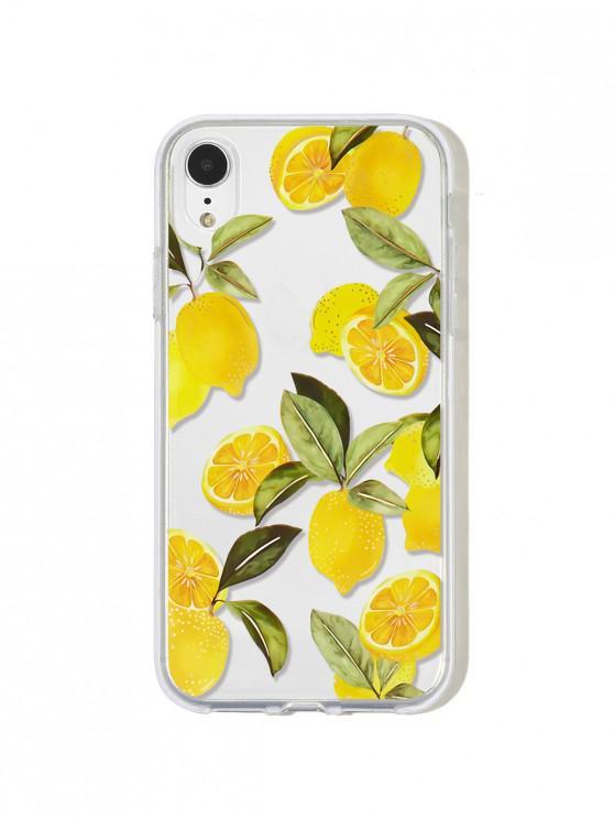 فاكهة الليمون حالة الهاتف لآيفون - خردل XR