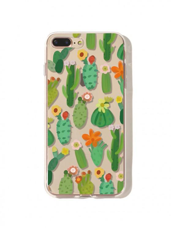 Чехол для iPhone с цветочным кактусом - Клевер-зеленый Любовь / Любовь