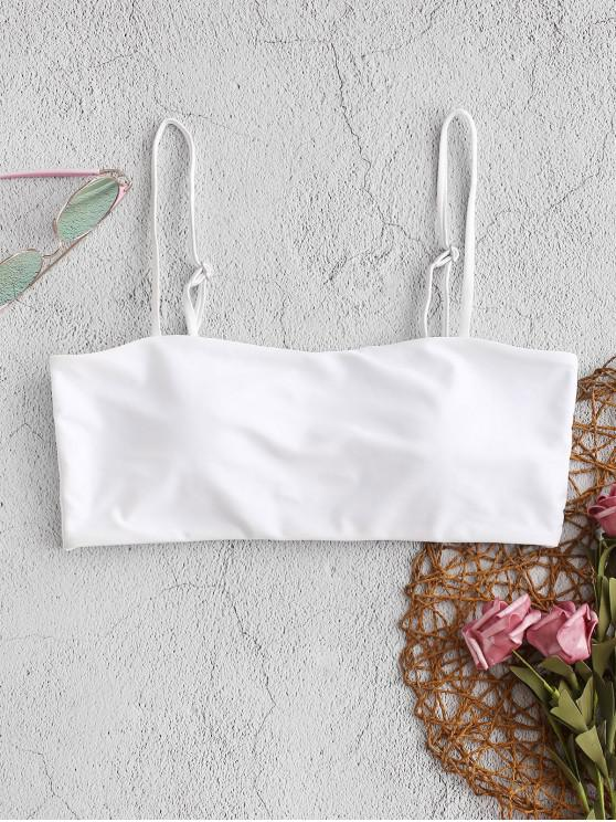 shop ZAFUL Boning Side Padded Cami Bikini Top - WHITE M