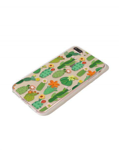 shop Flower Cactus Phone Case For Iphone - CLOVER GREEN 7P/8P Mobile