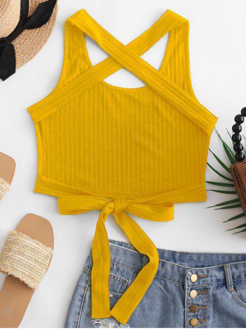 ZAFUL Regata de Amarra Cruzado Amarrado - Amarelo XL Mobile