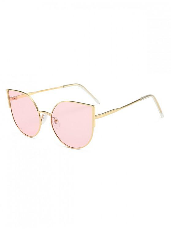 women Brief Metal Anti UV Driving Sunglasses - LIGHT PINK