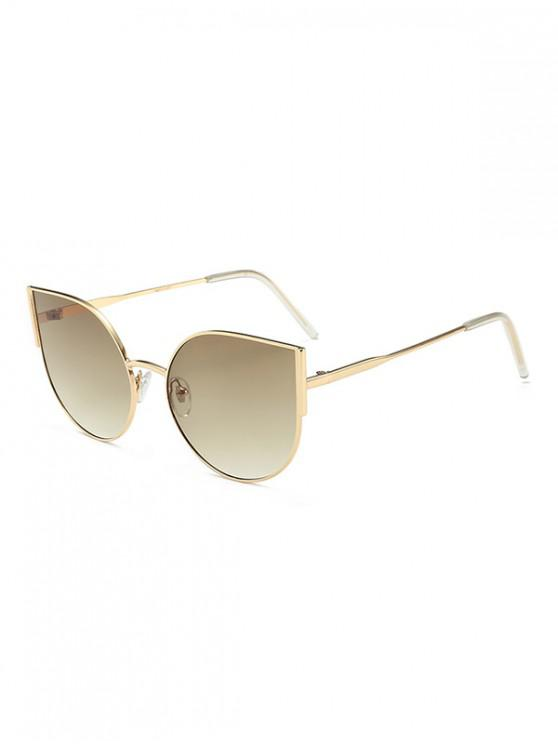 lady Brief Metal Anti UV Driving Sunglasses - MULTI-B