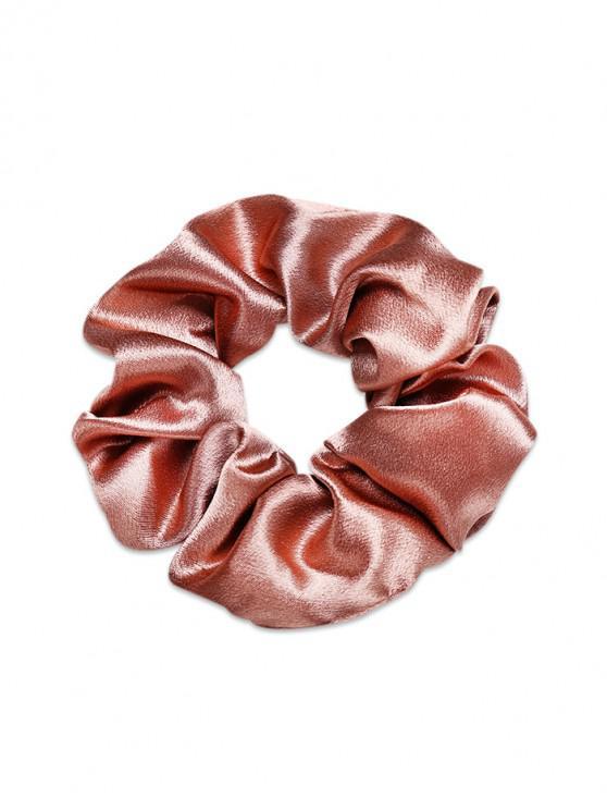 簡潔的實心緞面彈性繫帶 - 駱駝棕色