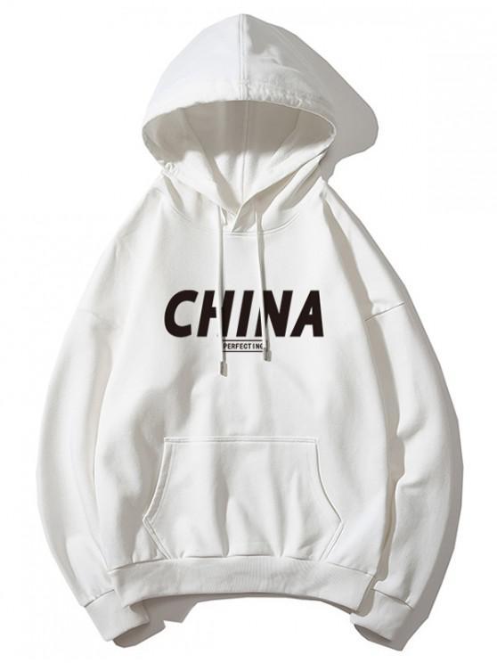 China sudadera con capucha estampada - Blanco XS
