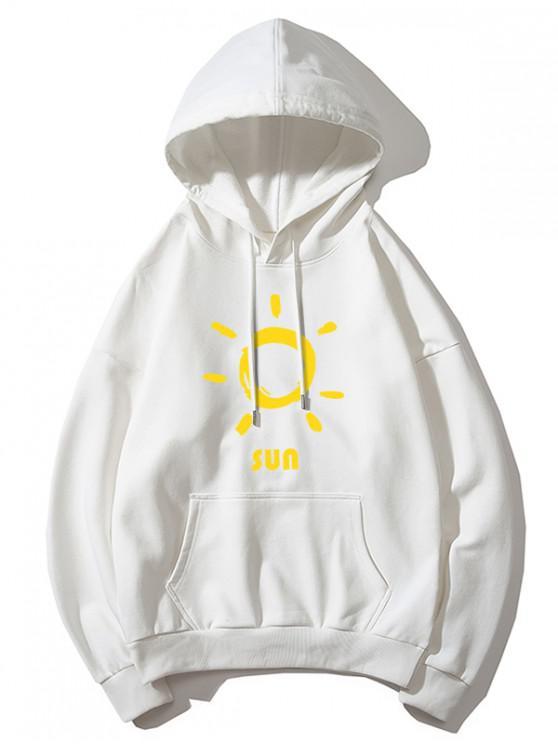 shops Sun Printed Hoodie - WHITE XS