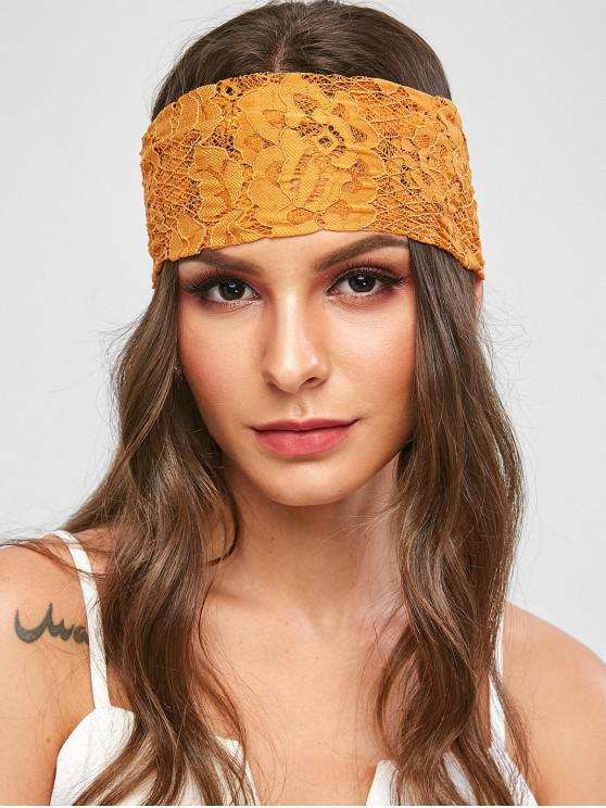 shop Floral Lace Headwrap - BEE YELLOW ONE SIZE