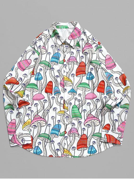 Seta de toda la prenda Estampado camisa de manga larga - Multicolor M