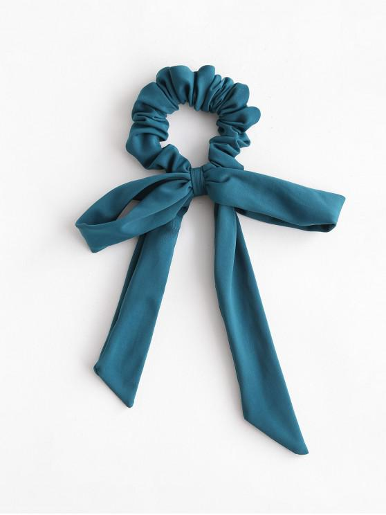fashion ZAFUL Elastic Solid Bowknot Hair Scrunchie - PEACOCK BLUE
