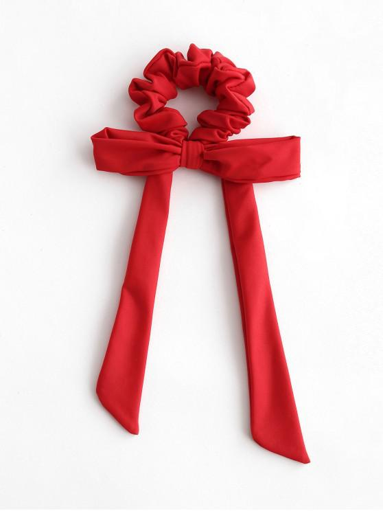 chic ZAFUL Elastic Solid Bowknot Hair Scrunchie - LAVA RED