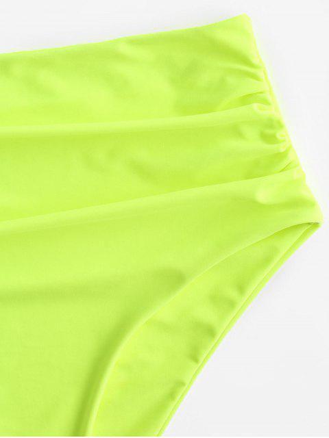 ZAFUL   Bikinihose mit Hohem Bauchumfang - Gelb Grün S Mobile