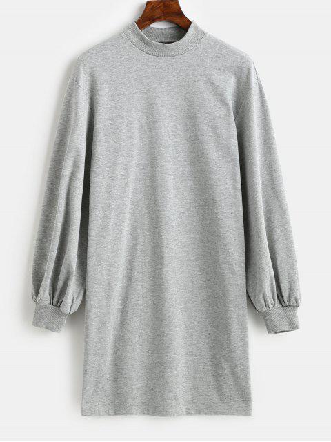 Vestido estilo sudadera con cuello redondo y manga larga ZAFUL Mock - Gris de Acorazado S Mobile