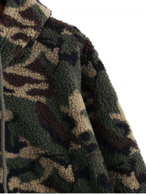Sudadera con capucha mullida de peluche con cordón de camuflaje - ACU Camuflaje M Mobile