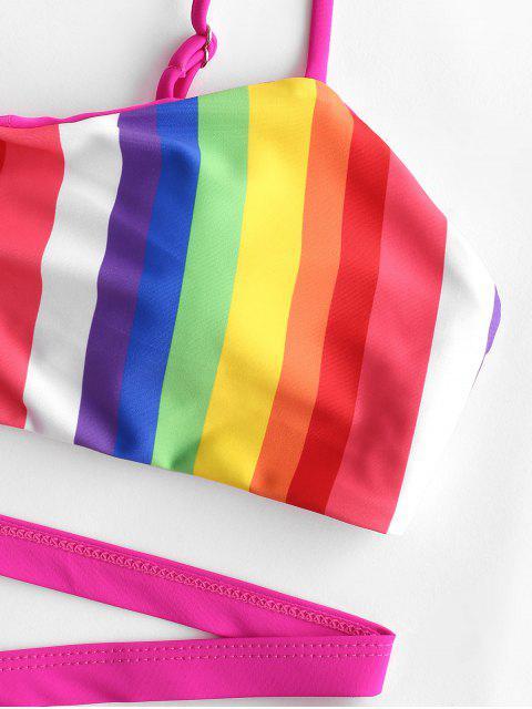 ZAFUL Maillot de Bain Bikini Croisé à Jambe Haute - Multi-A M Mobile