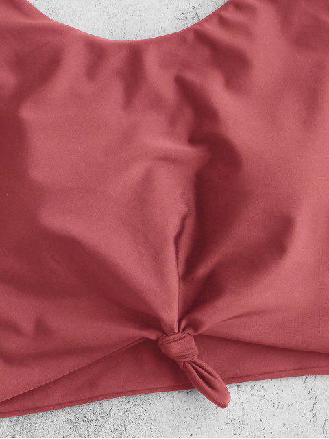Bañador Tankini estampado dálmata nudoso ZAFUL - Rojo Cereza S Mobile