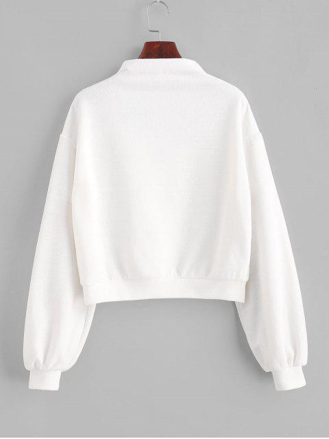 ZAFUL套頭衫Mock Neck平紋運動衫 - 牛奶白色 L Mobile
