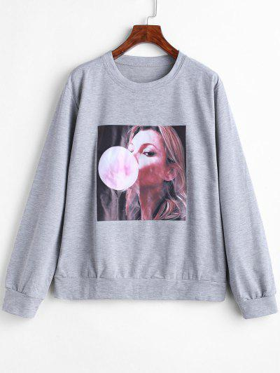 Image of Girl Graphic Sweatshirt