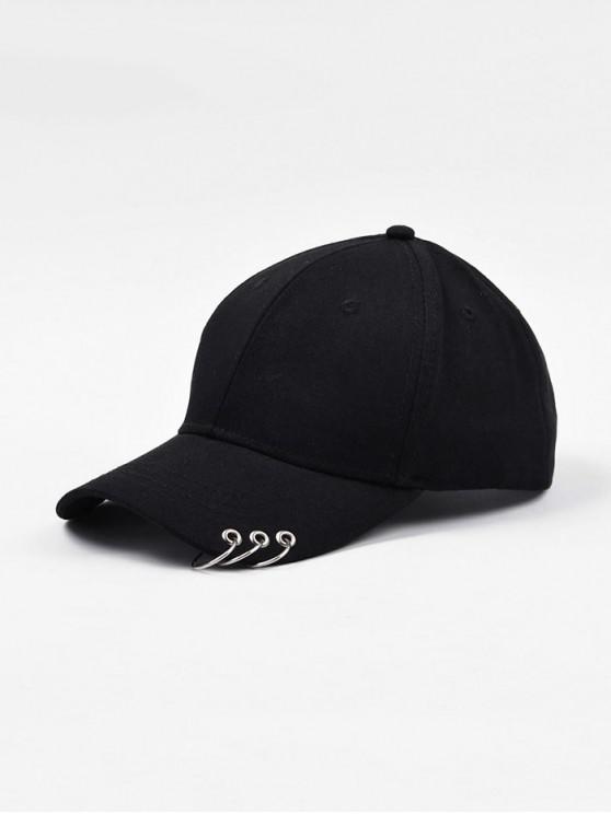 หมวกเบสบอล Solid Embellished - สีดำ