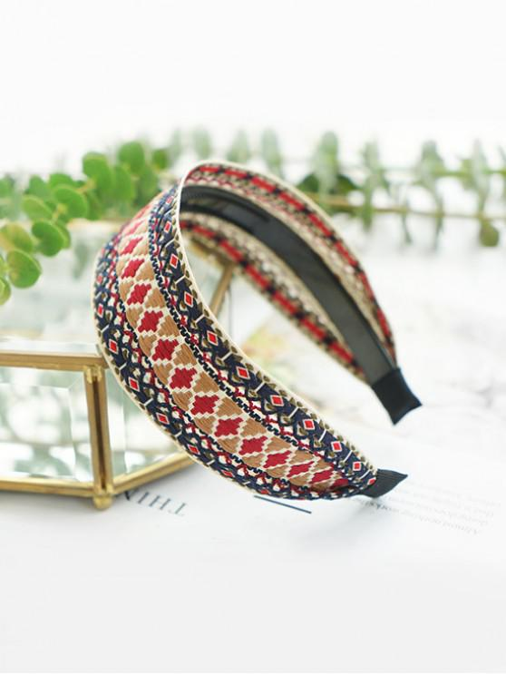 new Bohemian Linen Cotton Toothed Anti-slip Hairband - KHAKI
