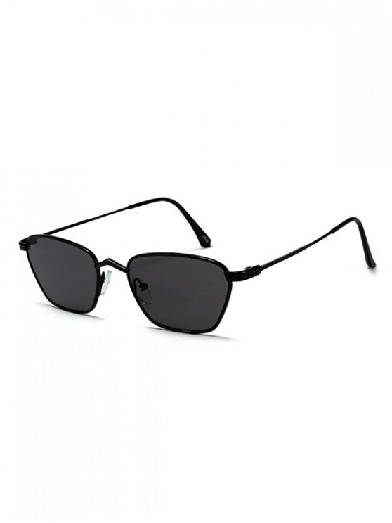 outfits Metal Narrow Rectangle Driver Sunglasses - BLACK
