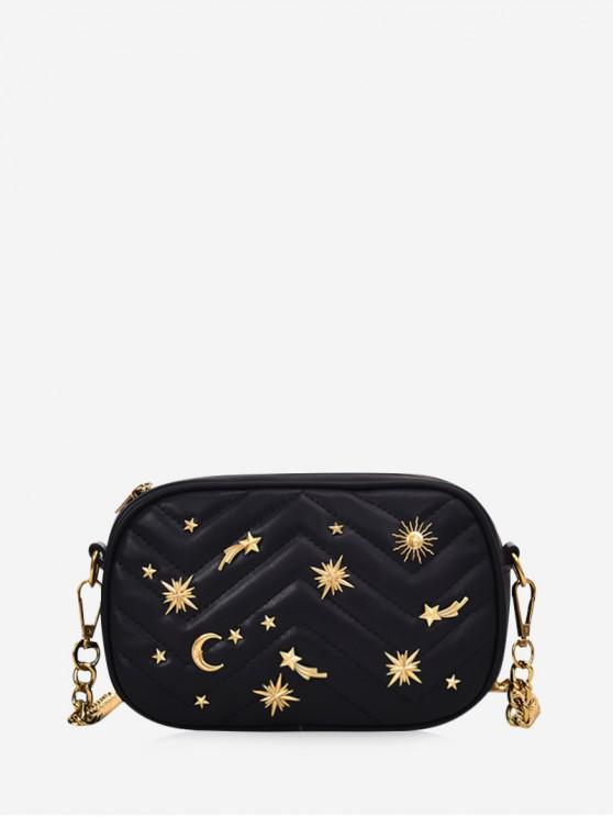 กระเป๋าสะพายเฉียงขนมเปียกปูน - สีดำ