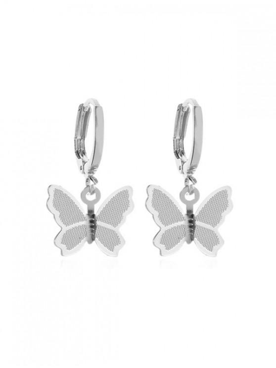 women Sweet Butterfly Clip Earrings - SILVER