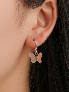 Sweet Butterfly Clip Earrings - Gold
