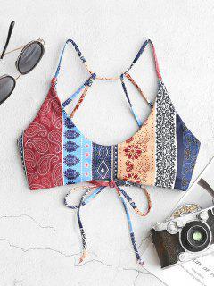 Top Bikini Di ZAFUL Floreale Con Lacci - Multi Colori-a L