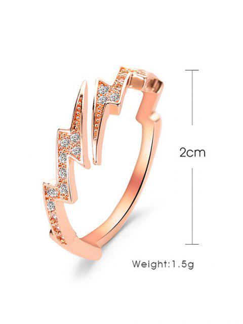 Горный хрусталь Открытое Кольцо - Розовый золотистый   Mobile
