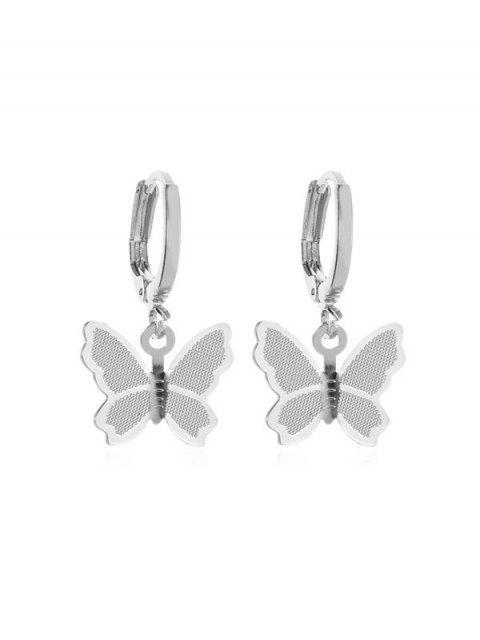 Серьги Сладкая бабочка - Серебристый  Mobile