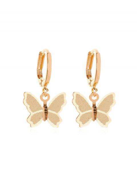 Süßer Schmetterling- Ohrclips - Gold  Mobile