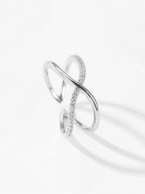 Горный хрусталь Геометрическое Кольцо - Серебряный  Mobile