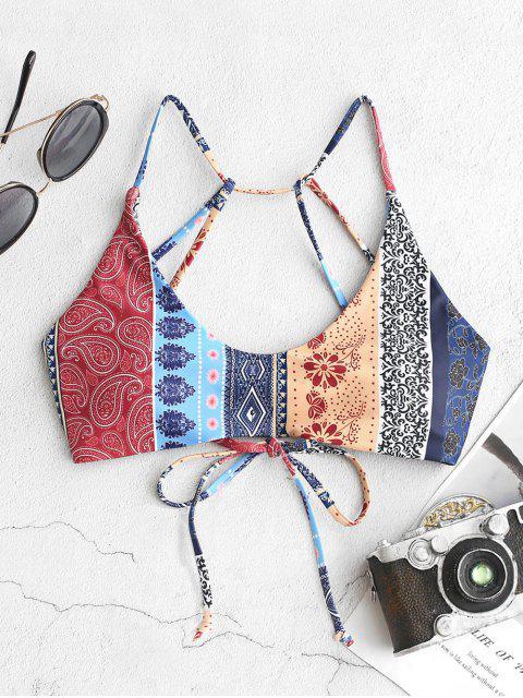 Bikini de Encaje con Flor de Paisley ZAFUL - Multicolor-A S Mobile