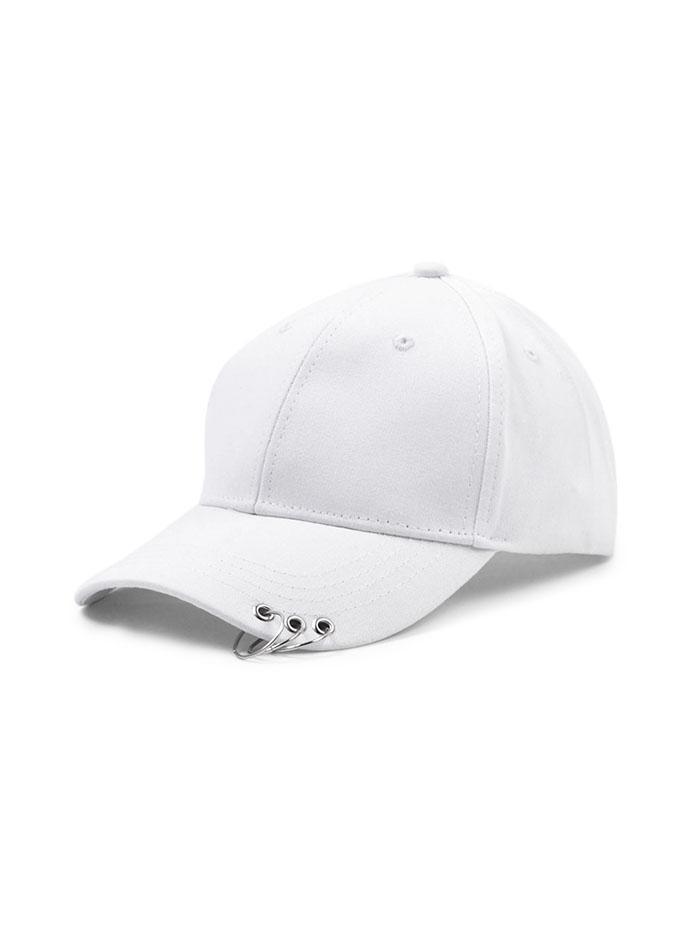Hoop Embellished Solid Baseball Cap фото