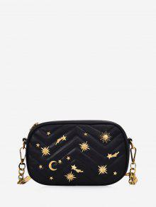 قطري حقيبة الكتف الصليب المعينية - أسود