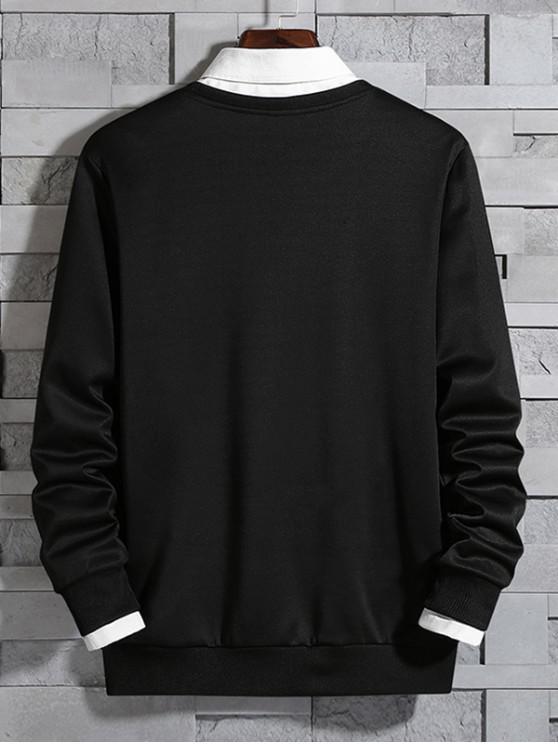 Sweat GraphiqueNoir shirt À Capuche Motif Avec Xs eEDHI9Y2W