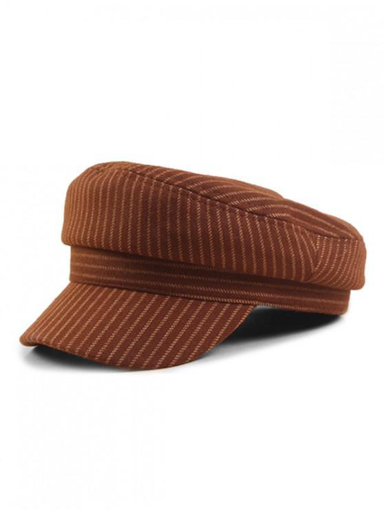 Vintage Striped Flat-topped Military Caps BLACK DARK KHAKI GRAY