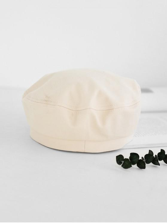 hot Brief Adjustable Outdoor Painter Hat - MILK WHITE