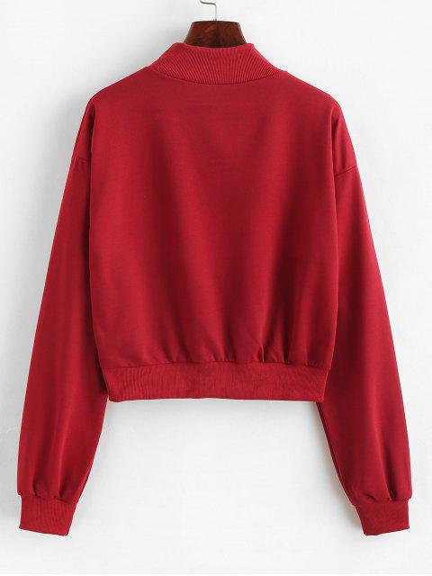 latest O-ring Zip Color Block Sweatshirt - MULTI-A S Mobile