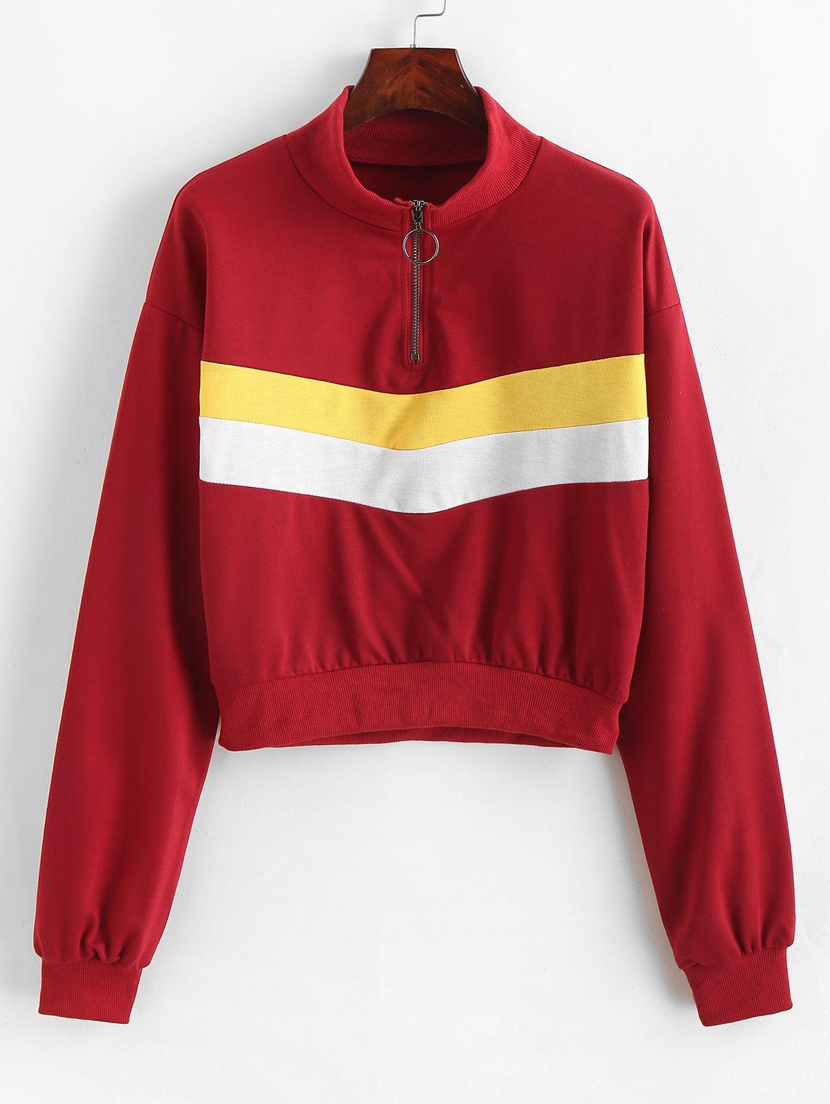 O-ring Zip Color Block Sweatshirt фото
