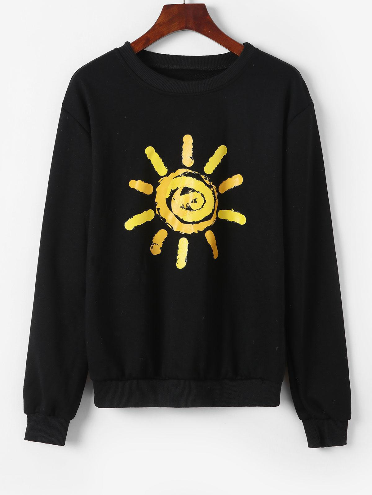 Pullover Bright Sun Graphic Sweatshirt