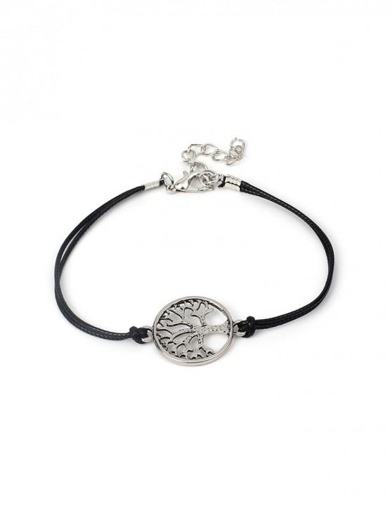 fashion Hollowed Tree Print Bracelet - BLACK