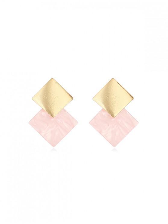 Aretes elegantes con diseño de rombos - Cerdo Rosa