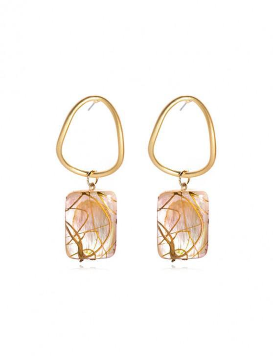 online Brief Geometric Shell Drop Earrings - GOLD