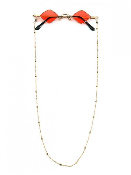 hot Beads Rope Chain Vintage Rhombus Sunglasses - RED