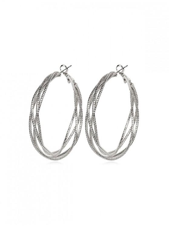 Pendientes elegantes de aleación con forma de círculo - Plata