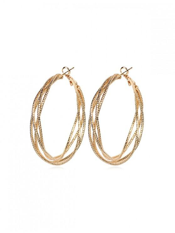 outfits Chic Circle Shape Alloy Earrings - GOLD